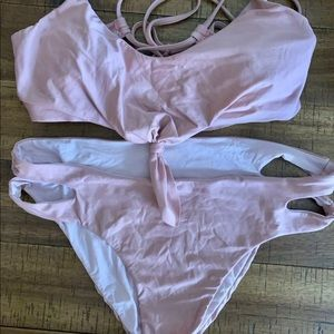 Splendid Medium Dusty Rose Pink Bikini Set